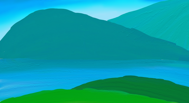 Greenish Blue Mountains by Alyelectricblue