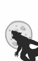 Werewolf howling at the moon by Megalomaniacaly