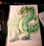 -Dragon drawing- by oomizuao