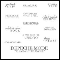 Text Brushes Depeche Mode by ghostgoodthing