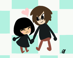 Mii And Him by DuckyDeathly