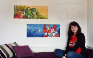 Crazy artist and her crazy projects by CuriousCucumber