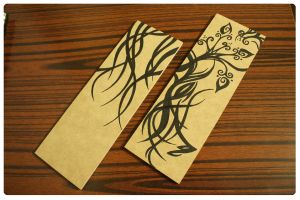 Root and Rose Buds - On Wood by EmZ565