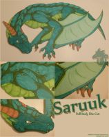 Commission.Saruuk Die-Cut by StrayaObscura
