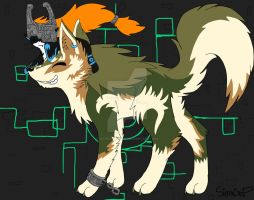 Wolf Link and Midna~ by Sierracat7807
