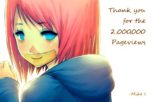 Thank you for the 2M Pageviews by Mikeinel