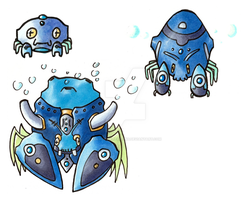 Water Starter: Fortress Crabs by Diamond-Creations