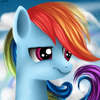 Rainbow Dash's second portrait. by Ogniva
