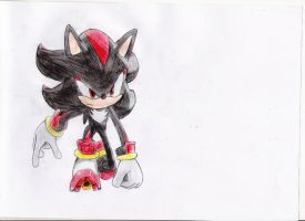 shadow the hedgehog drawing 3 by nothing111111
