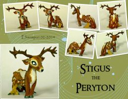 Stigus the Peryton by MalaCembra