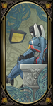 Transformers Tarot cards: The Hermit by Chibininja1917