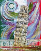 The Leaning Tower by LauraHolArt
