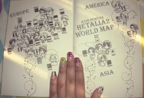 Hetalia- Flag Nails 2012 VIII by Ale-L