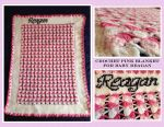 Crochet Pink Blanket for Baby Reagan by OneTrueSai