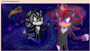 Mephiles Vs Shadow iscribble by Mephilez