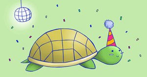 Party Turtle 2 ! by x-BlueberryHeart-x