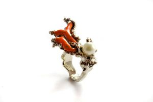 Corall set - ring by GatoJewel-DerKater