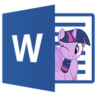 Word 2013 - Twilight Sparkle icon by Nyan-PTX