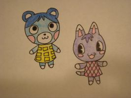Bluebear and Rosie by cameragirl123