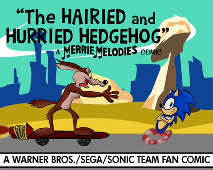 Sonic/Wile E.  Fan Comic Lobby Card (Color, V1) by LooneyTunerIan