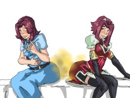 REQUEST: Mother and Daughter Farting by Lazei