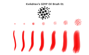 Kwikdraw's GIMP Oil Brush 01 by kwikdraw