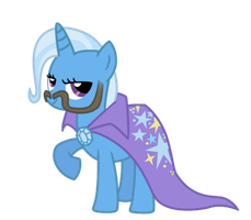 Trixie stole my... Stache by DrLonePony