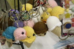 Crochet Key Chains - AWA 2012 by moofestgirl