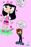 Isabella in love color by Saranox000