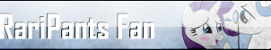 Fan Button: RariPants Fan by SilverRomance