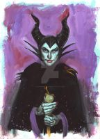 Maleficent and Diablo by Michael Gaydos by AshcanAllstars