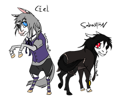 Ciel and Sebastian Chibis by Spectra-Sky