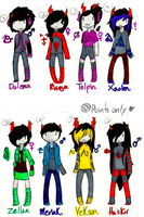 Homestuck fan-troll adopts- CLOSED. by MonsterRadio