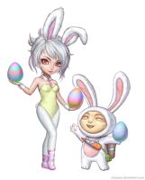 Bunny Riven and Teemo by CharaSix