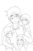 Lineart: England and Kids by anvilgurl