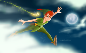 Peter Pan-Jump in the Clouds by Nippy13