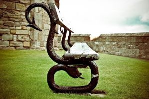 Seat At Bamburgh Castle II by scribbleXcore