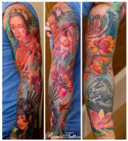 Color Jepanese Tattoo by Remistattoo