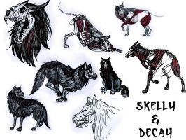 skelly+decay doodles by Zombilein