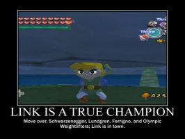 Motivational Link: Link is a true Champion by JanetAteHer