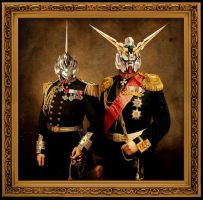 Classical gundam portrait- Unicorns by mayajid