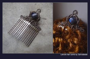 Lenore hair comb by bodaszilvia