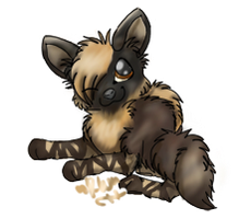Brown Hyena :3 by rainwolfeh