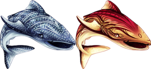 Whale Shark Elphins by o-Soulwings-o