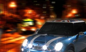 Mini Cooper at Night by Shint0