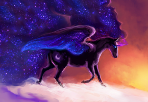 MLP NIGHTMARE MOON by ElkaArt