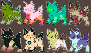 [OPEN] Sparkle mammal batch by TankerFishyGalAdopts