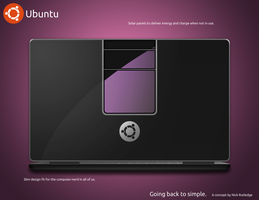 Ubuntu Laptop Concept Back by eldron2323