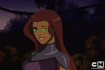 Young Justice Fake Screenshot: Starfire by AMTModollas