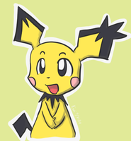 Spiky-Eared Pichu by KiwiBasket